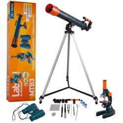 Набор Levenhuk LabZZ MTВ3: микроскоп, телескоп и бинокль