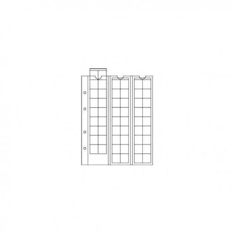 Лист OPTIMA M54 в альбом для монет, на 54 ячейки